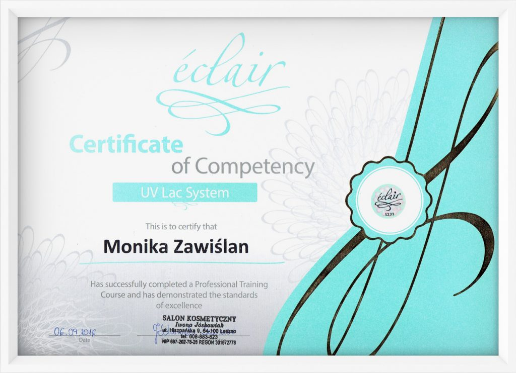 certyfikat UV LAC System