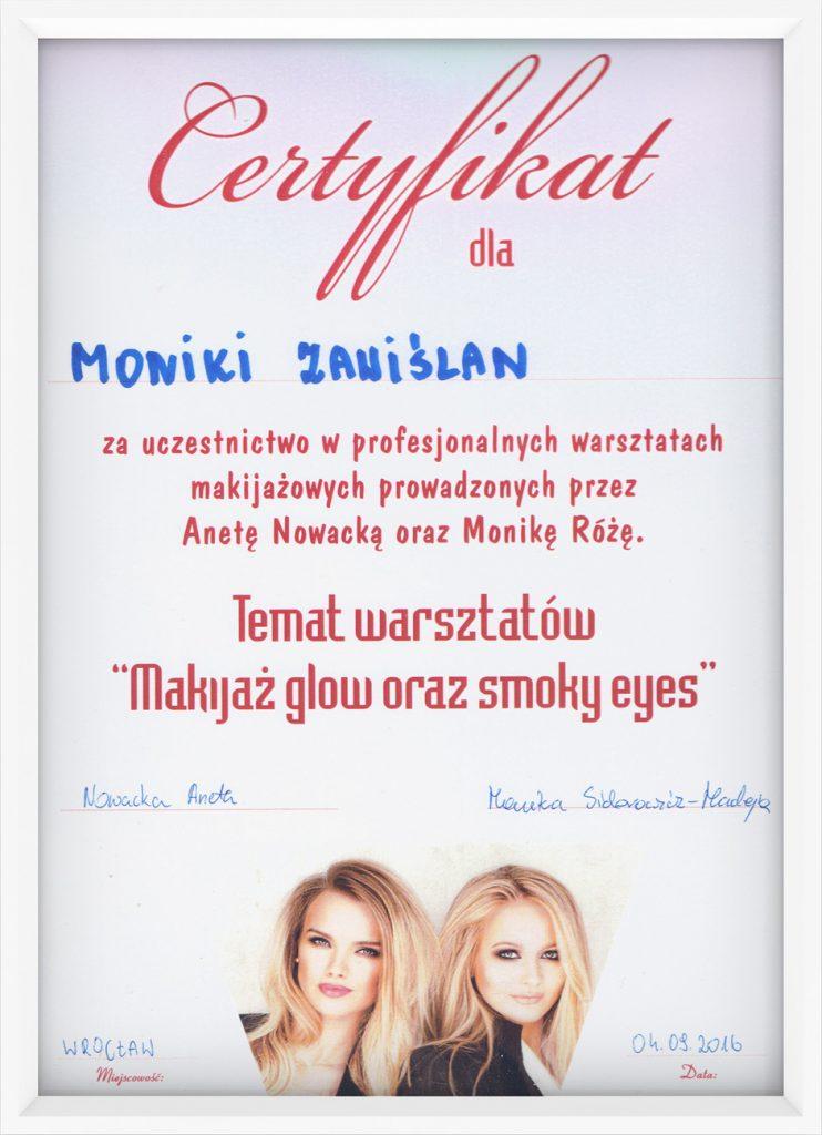 certyfikat glow i smoky eyes